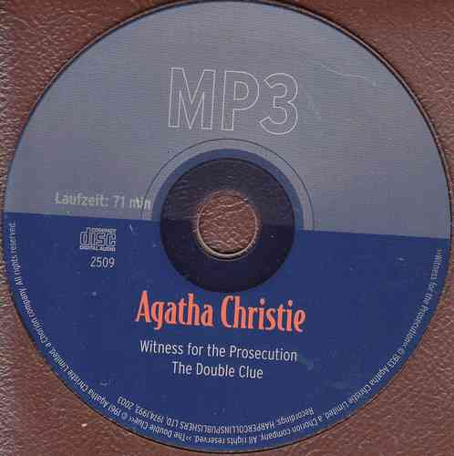 Agatha Christie: Witness for the Prosecution / The Double Clue *** Hörbuch ***